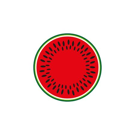 watermelon icon. watermelon icon vector flat illustration for graphic and web design isolated on white background from summer collection Ilustração