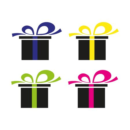 Gift box, present in vector.