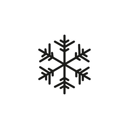 snowflake on a white background vector icon