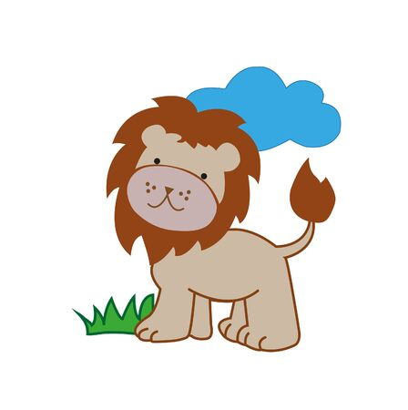 Leo on nature. Vector 向量圖像