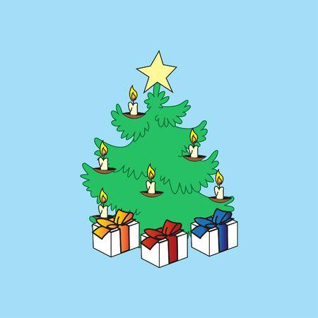 Christmas tree. Vector 向量圖像