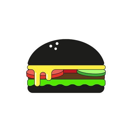 black burger. Vector 向量圖像