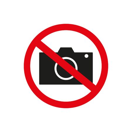The sign of the prohibition to take pictures