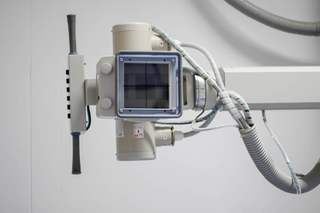 endovascular: x-ray machine in hospital