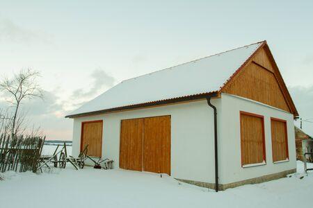 Barn in village.