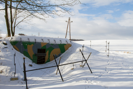 bunker: Military bunker.