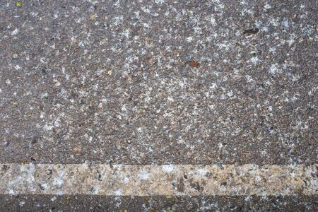 road surface: Road surface with bird droppings Stock Photo