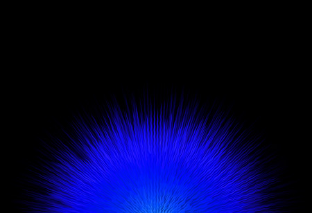blue flame: abstract blue flame on black background