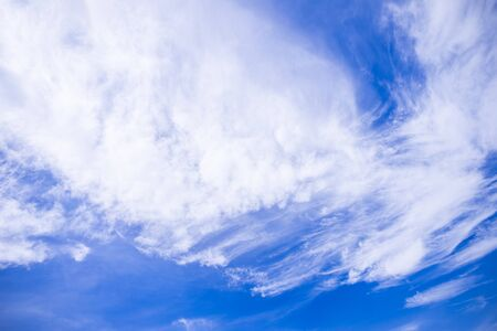 Blue sky background with cloud (cirrus) Stock Photo
