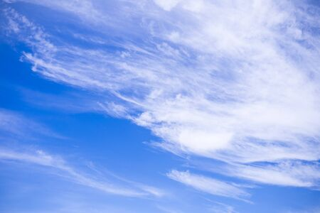 cirrus: Blue sky background with cloud (cirrus) Stock Photo