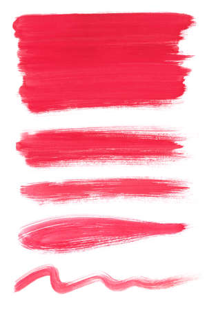 water color brush strokes, brushes lines, freehand drawing. Isolated on white background.
