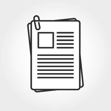 attached: Icon with the image of the attached file. Illustration