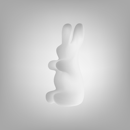 lapin silhouette: The cloud in the form of a rabbit. Rabbit shape.