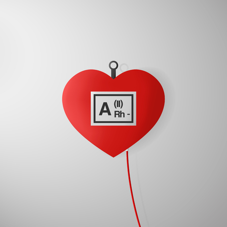 14: World blood donor day. Poster for 14 June. Illustration