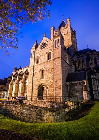 christchurch: Christchurch Cathedral at dusk