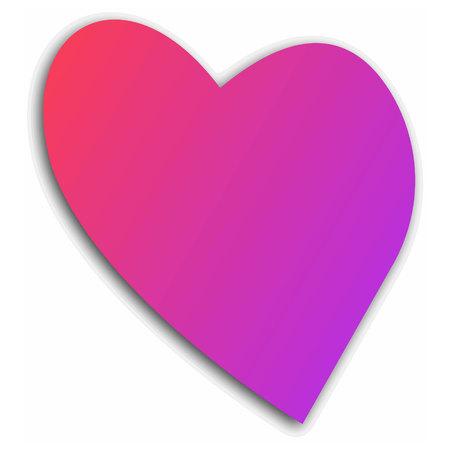 romance shape love paint holiday vector heart