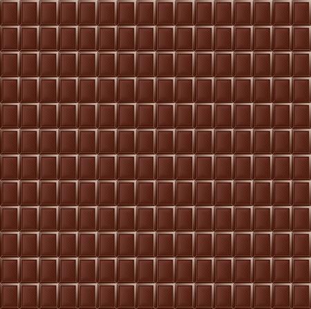 Milk chocolate seamless pattern food texture dark realistic grid block Фото со стока - 104163473