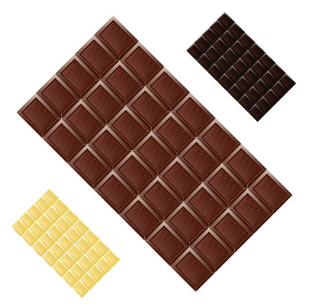 Milk chocolate seamless pattern food texture dark realistic grid block Illusztráció