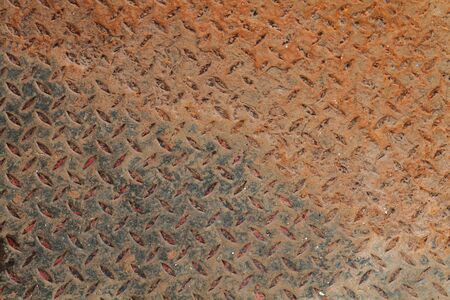 oxidized: Old metal plate  Stock Photo