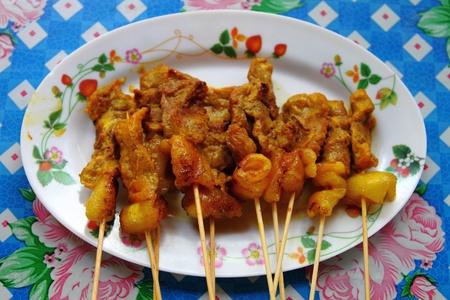 thai meat satay photo
