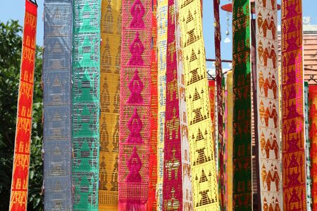 Wat flags decoration,Thailand  photo