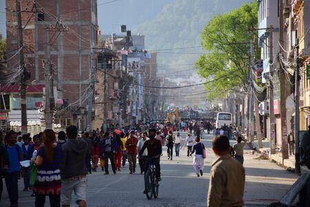 quake: Kathmandu Nepal  May 12 2015 : Panic people after earthquake disaster