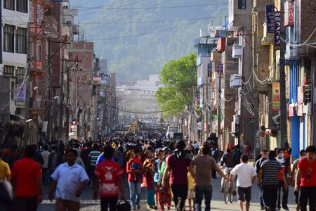 richter: Kathmandu Nepal  May 12 2015 : Panic people after earthquake disaster