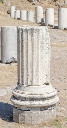 Ancient stone Pillars the rest of the destructionof the war photo