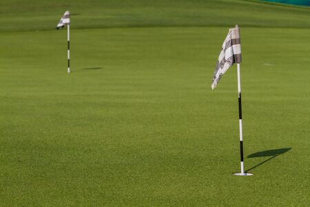 two and two thirds: Green and Hole Flag for putting practice.