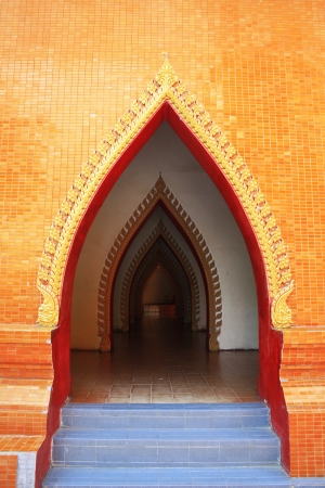 Arch door in Temple photo