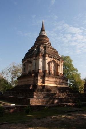 Buddhism pagoda wad jed yod chiang mai