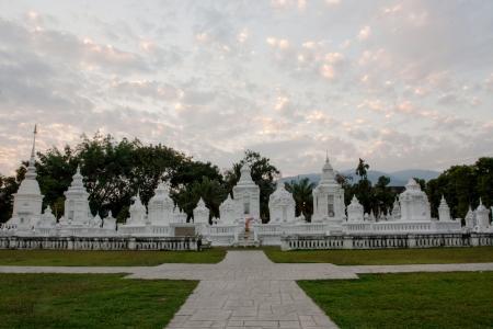 Pagoda , Wat Suan Dok, Bub pha ram , Chiangmai  Stock Photo