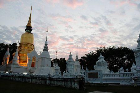 Buddhism pagoda , Pagoda , Wat Suan Dok, Bub pha ram , Chiangmai
