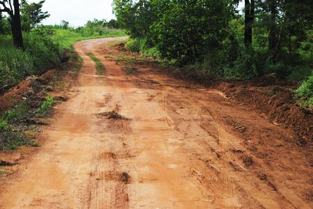 dirt road in Cahiyapoom Province Thailand photo
