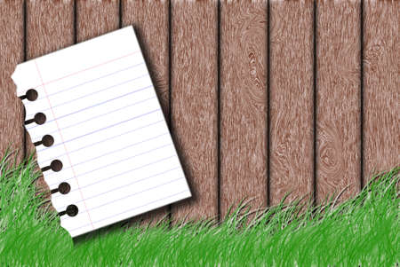 white Note Paper on wood background photo