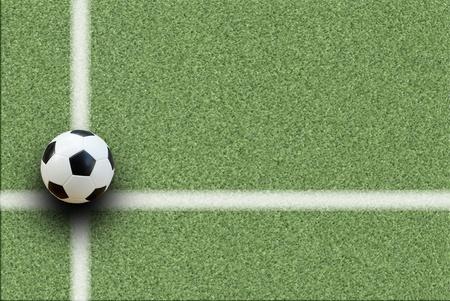 soccer ball on start kick of game Stock Photo - 13783905