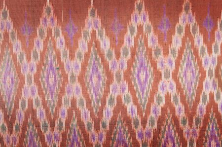 closeup pattern texture of general traditional thai style native handmade fabric weave Stock Photo - 14105248