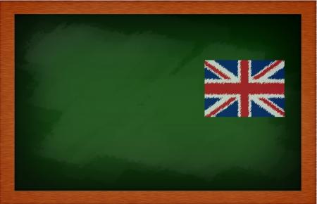 blank blackboard with flag photo