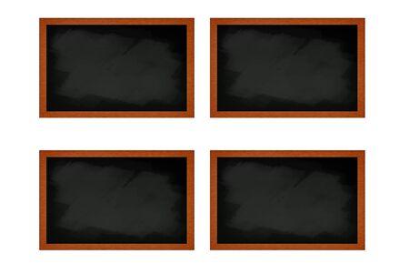 many  blank blackboard  photo