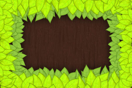 saturate:  leafs abstract background with place for your text