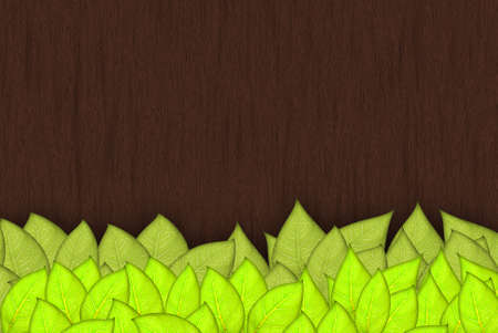 leafs abstract background with place for your text Stock Photo - 14190960