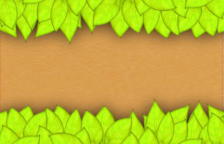 leafs abstract background with place for your text Stock Photo - 14190958