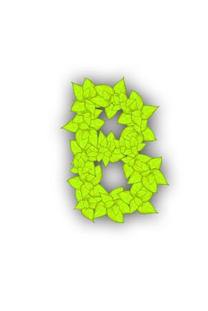 leafs alphabet font