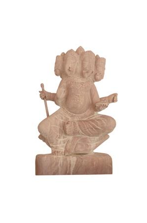 indian god: The Indian God Ganesha statue isolated on white Stock Photo