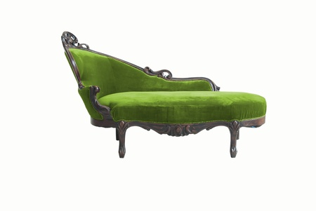 vintage luxury  sofa isolated on white background  photo
