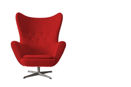 Isolated Soft Red Stylish Chair