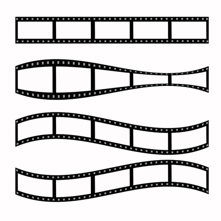 35 mm: blank film strip  Stock Photo