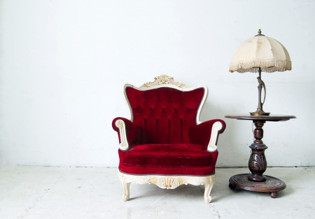 vintage luxury red sofa