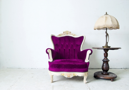 Luxurious armchair in white background  photo