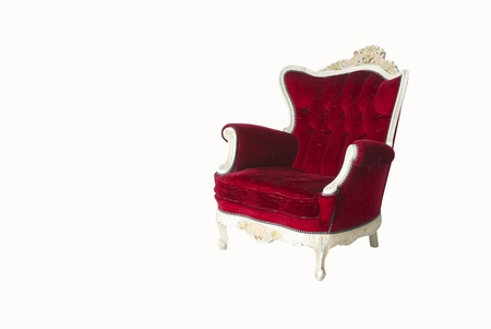 Luxurious armchair in white background